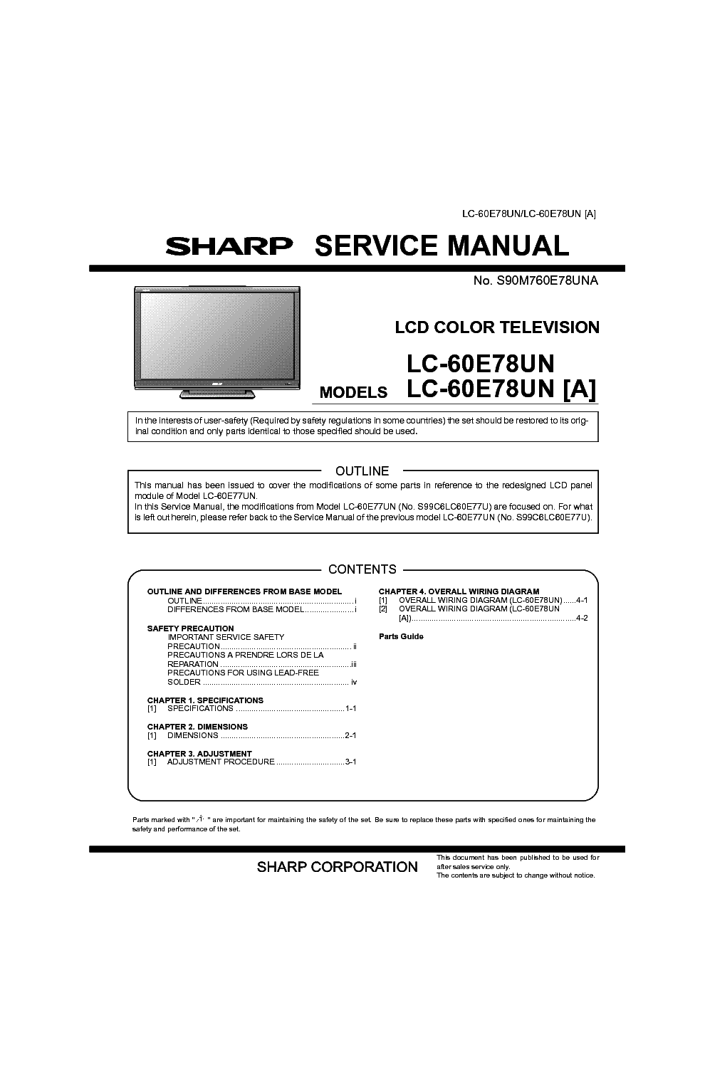sharp lc 60e78un a service manual download schematics eeprom rh elektrotanya com